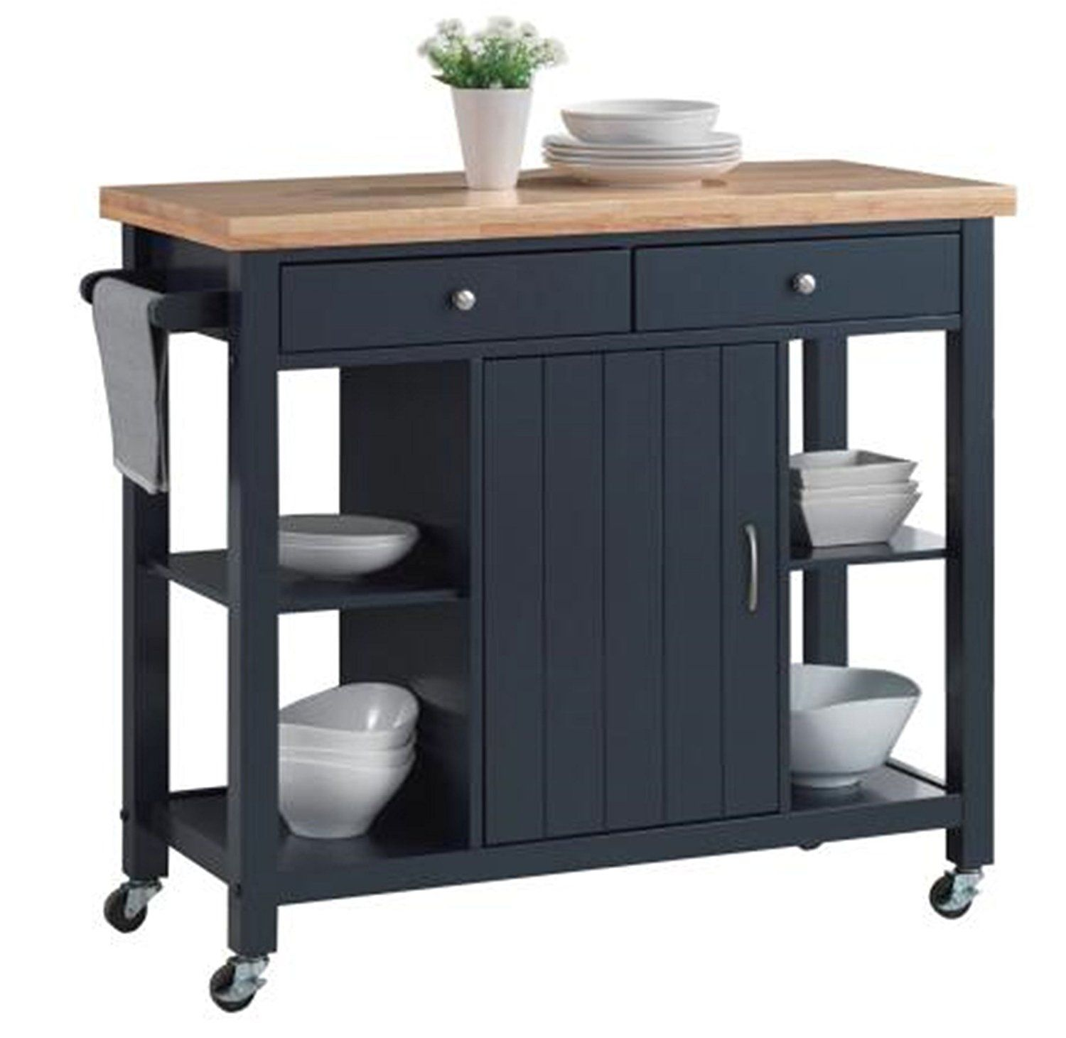 Amazon Com Oliver And Smith Nashville Collection Large Mobile Kitchen Island Mobile Kitchen Island Butcher Block Island Kitchen Kitchen Island On Wheels