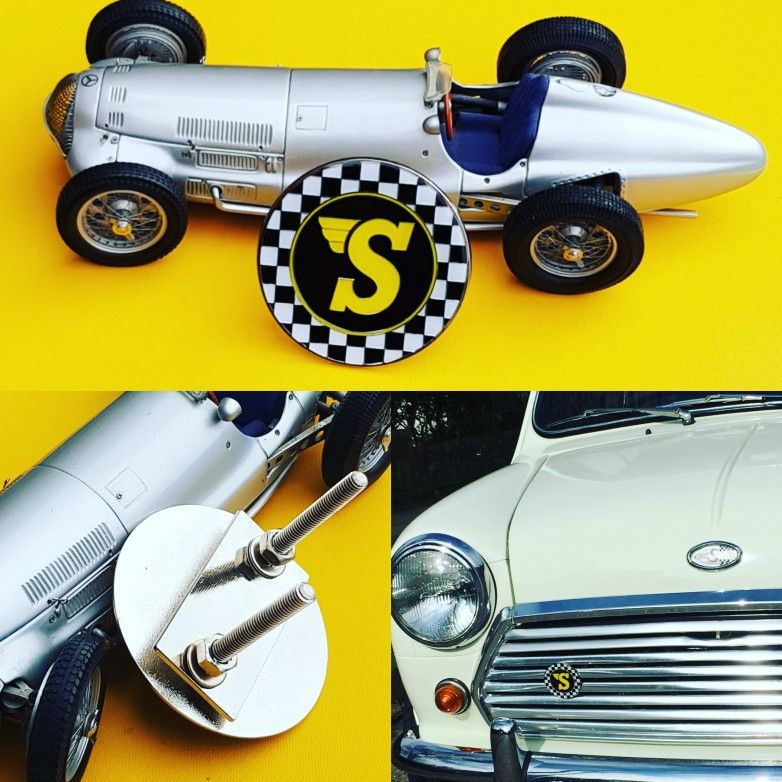 Badges & Mascots set Of 2pcs Car Grill Badge Emblem Enamled Logos Yacht Club De Monaco Vehicle Parts & Accessories