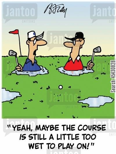 Image result for wet golf cartoon jokes
