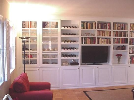 Tv Entertainment Center With Bookcases And Racks Entertainment