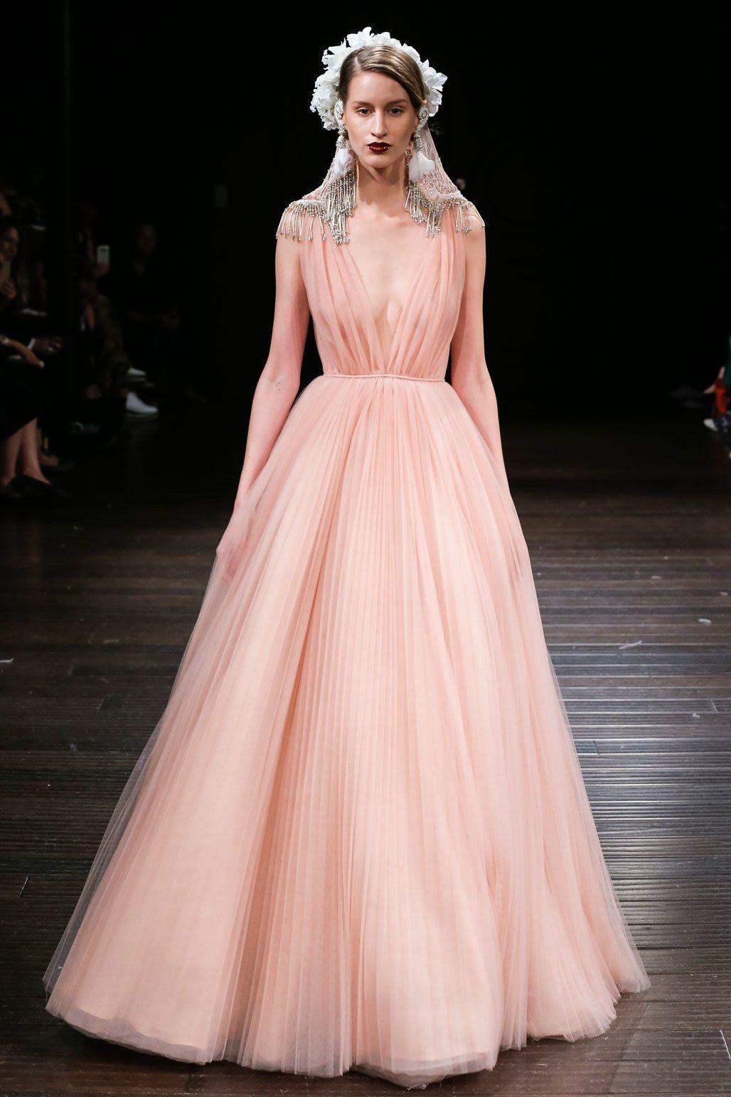 Naeem Khan Bridal Fall 2018 Fashion Show   Pinterest