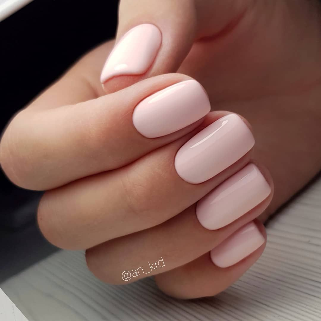 Blush Pink on short nails