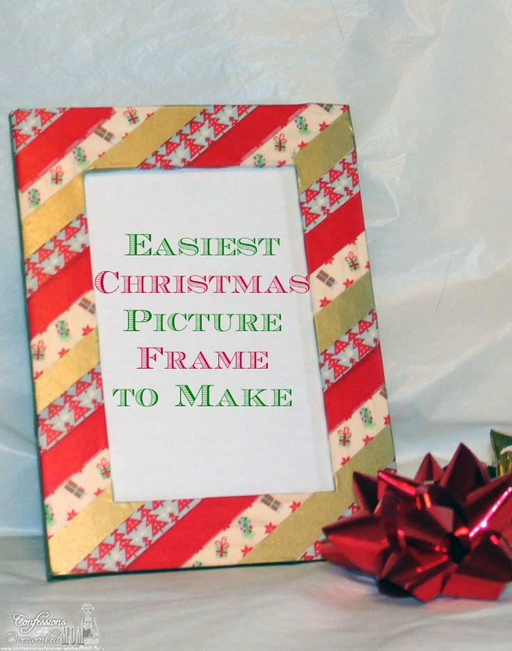 Easiest Christmas Picture Frame to Make for Kids or Adults ...