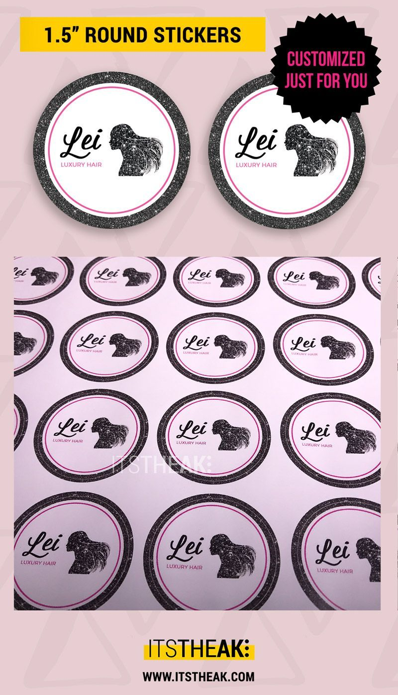 Custom stickers perfect for adding a small personal touch to your packages and gift bags