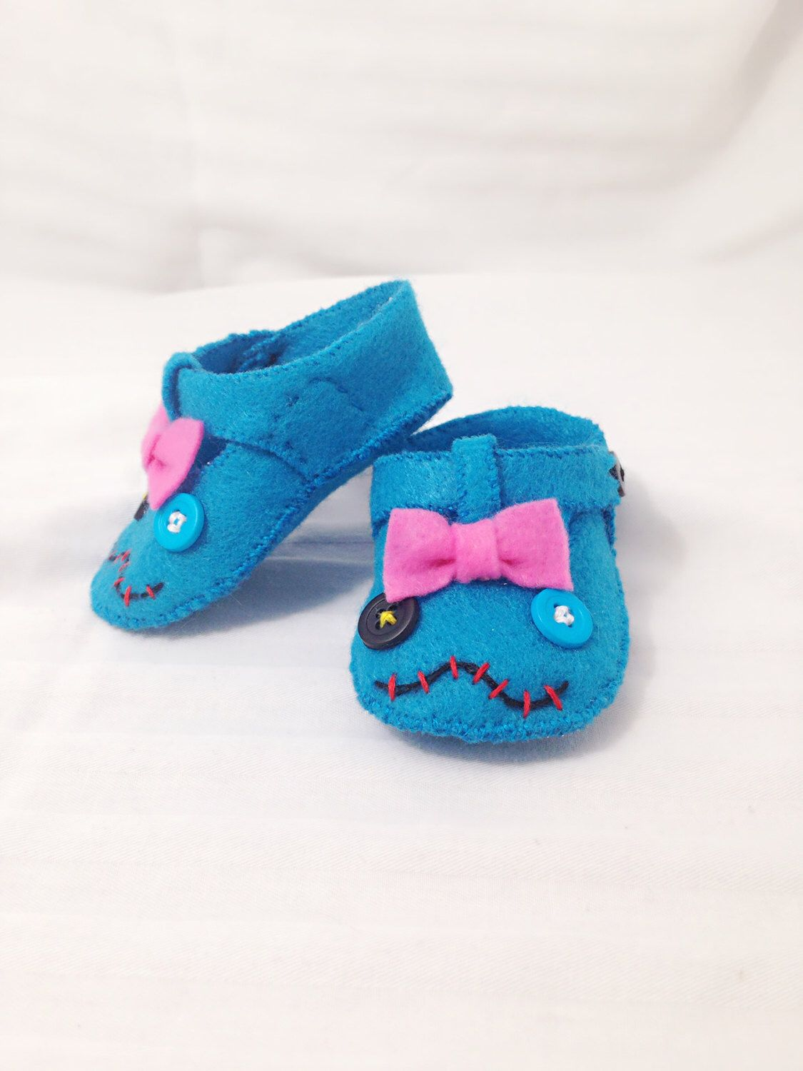 Lilo & Stitch Scrump Baby Shoes, Baby Booties, Baby Slippers, Handmade in Lightweight Felt. by TheNerdEffect on Etsy https://www.etsy.com/listing/247370577/lilo-stitch-scrump-baby-shoes-baby