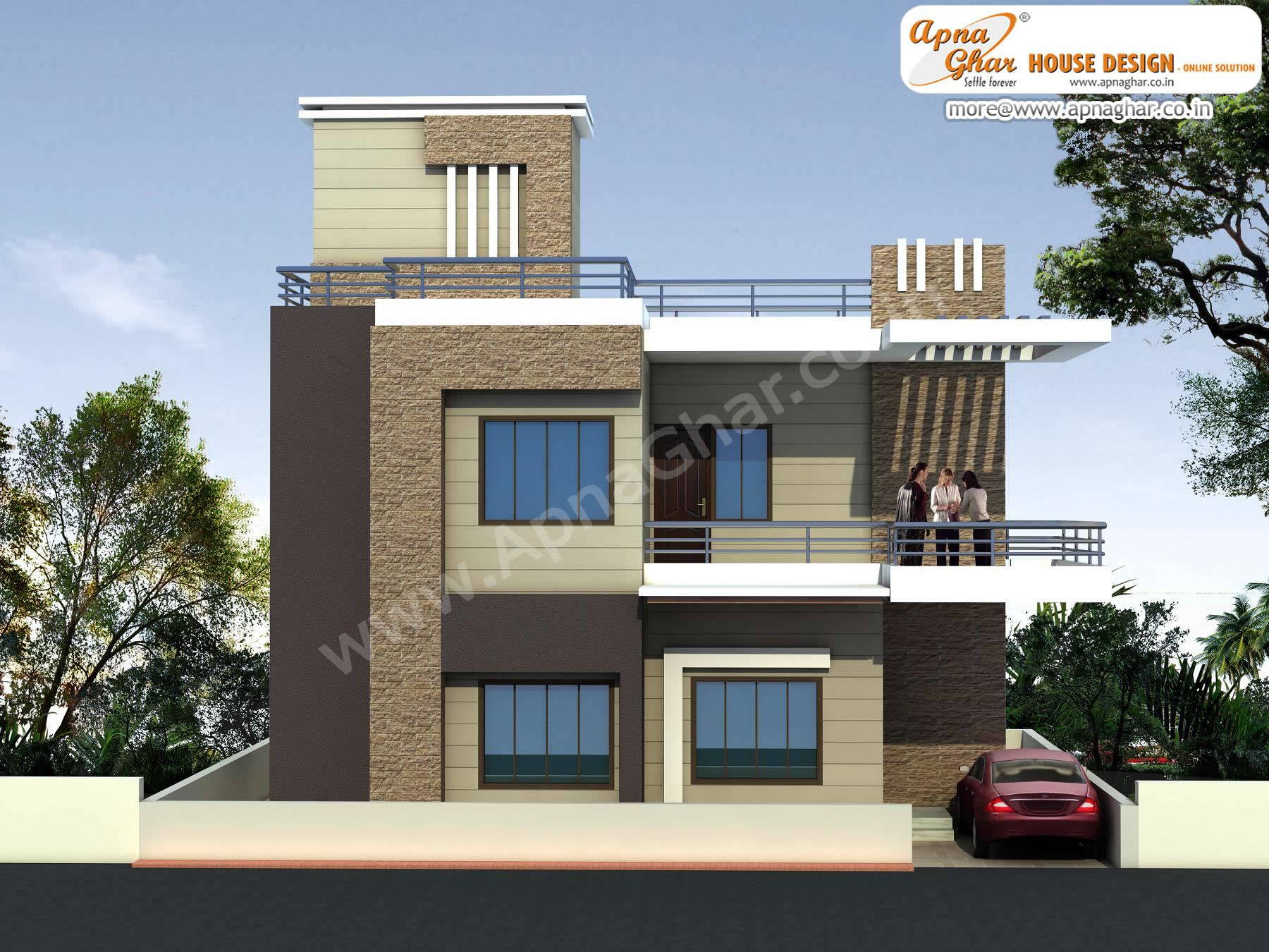 Marvelous Elevation Design Modern Duplex Part - 13: Modern Beautiful Duplex (2 Floors) House Design. Area: 920 Sq. Mts