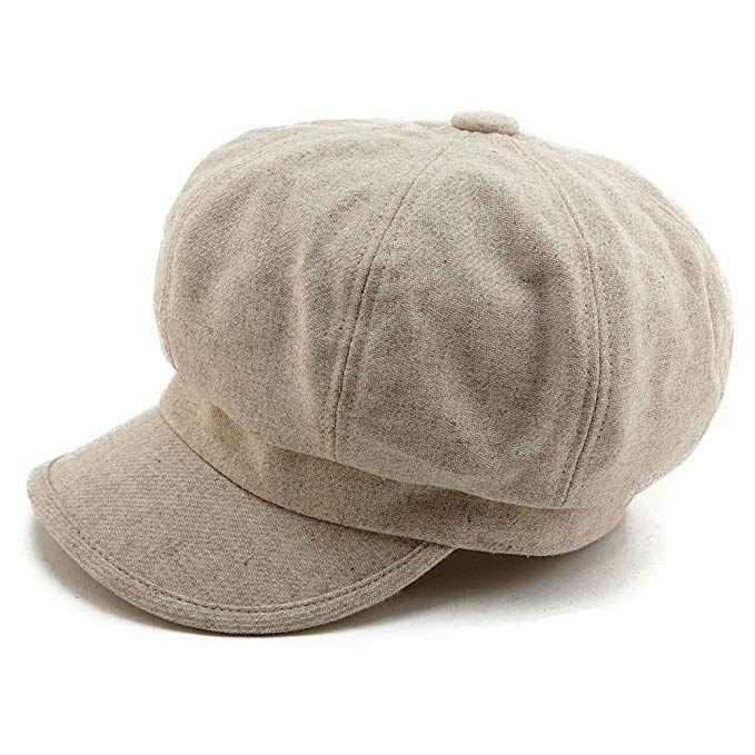 SIGGI Woman Visor Beret Newsboy Cabbie Painters Paperboy Cap Winter Hats  Lined Wool Beige 01f5e0fbfd9d