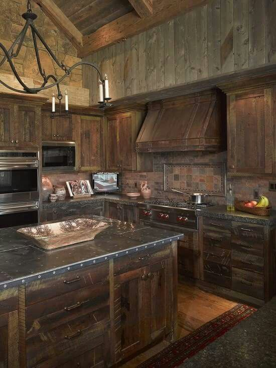 kitchen ideas oh how it would be nice rustic kitchen cabinets rh pinterest ca