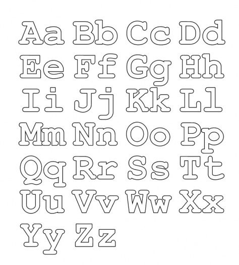 Free Alphabet Coloring Page Upper Lower Case Letters
