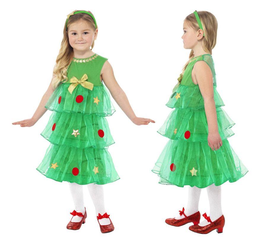 Disfraz de rbol de navidad con tut para ni a disfraces - Disfraz navideno nina ...