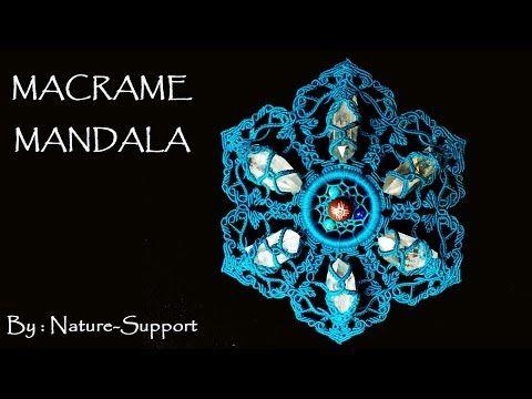 水晶ポイントにビーズを合わせた包み編みネックレスの作り方【マクラメ編み】Crystal point and beads Macrame necklace Tutorial - YouTube