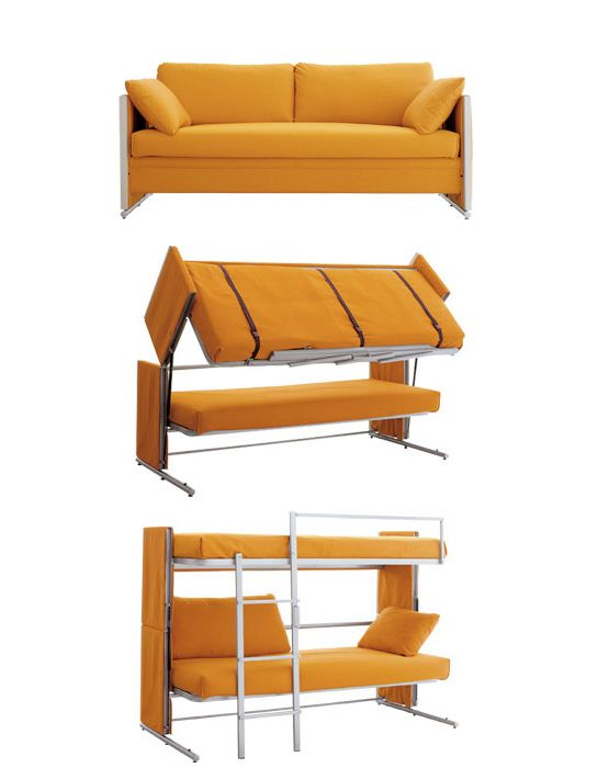 So Cool Sofa Into A Bunk Bed How Do People Think Of These Things