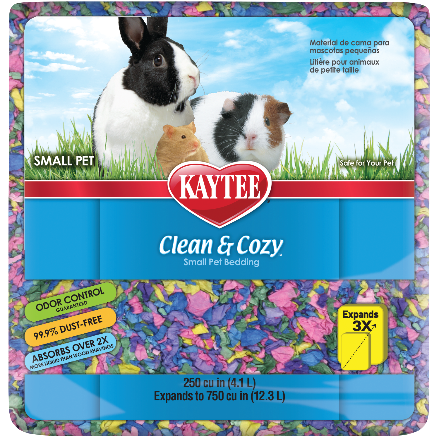 Kaytee Clean & Cozy Birthday Cake Small Animal Bedding, 12.3 Liters (250 cu.in.)