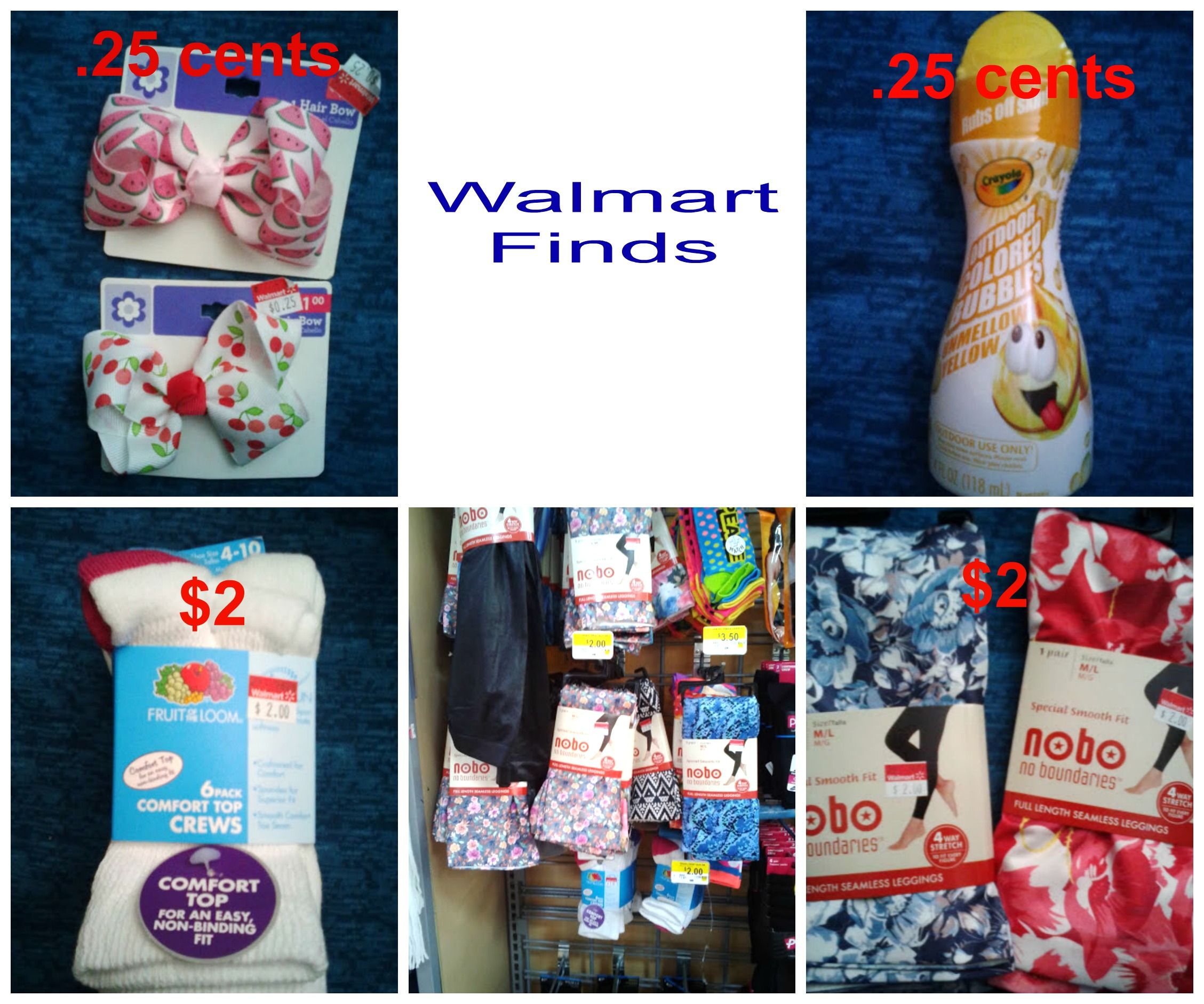 Newest Walmart clearance finds. .25 cent and 2 items