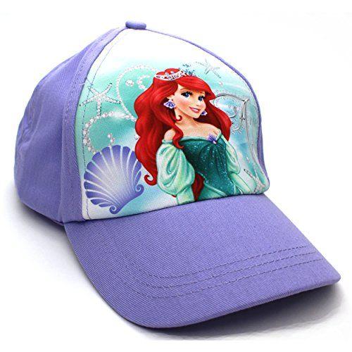 2383212046d Disney Princess Girls Baseball Cap Hat (Ariel Lilac) Disney http   www