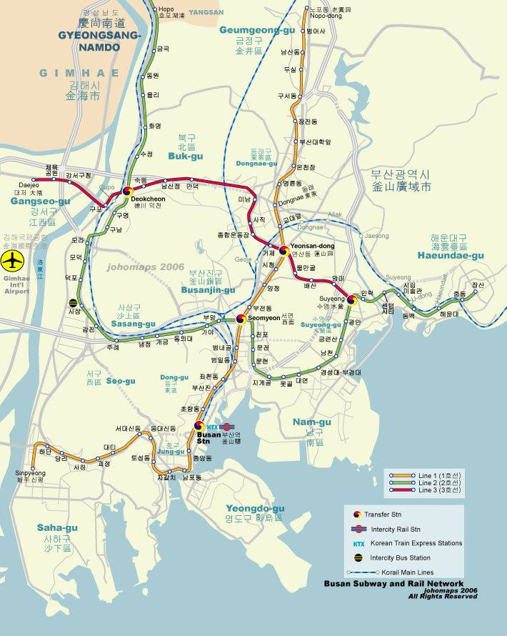 Subway Map Of Busan.Subway Map Of Busan Korea Busan Map Korea Country