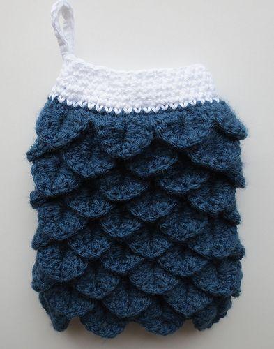 Crocheted Crocodile Stitch Oven Mitt Free Pattern From