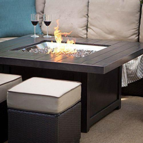 Napoleon St Tropez Patioflame 48 Inch Propane Gas Fire Table With Glass Embers Square Sttr Bbqguys Gas Fire Table Propane Fire Pit Table Fire Table