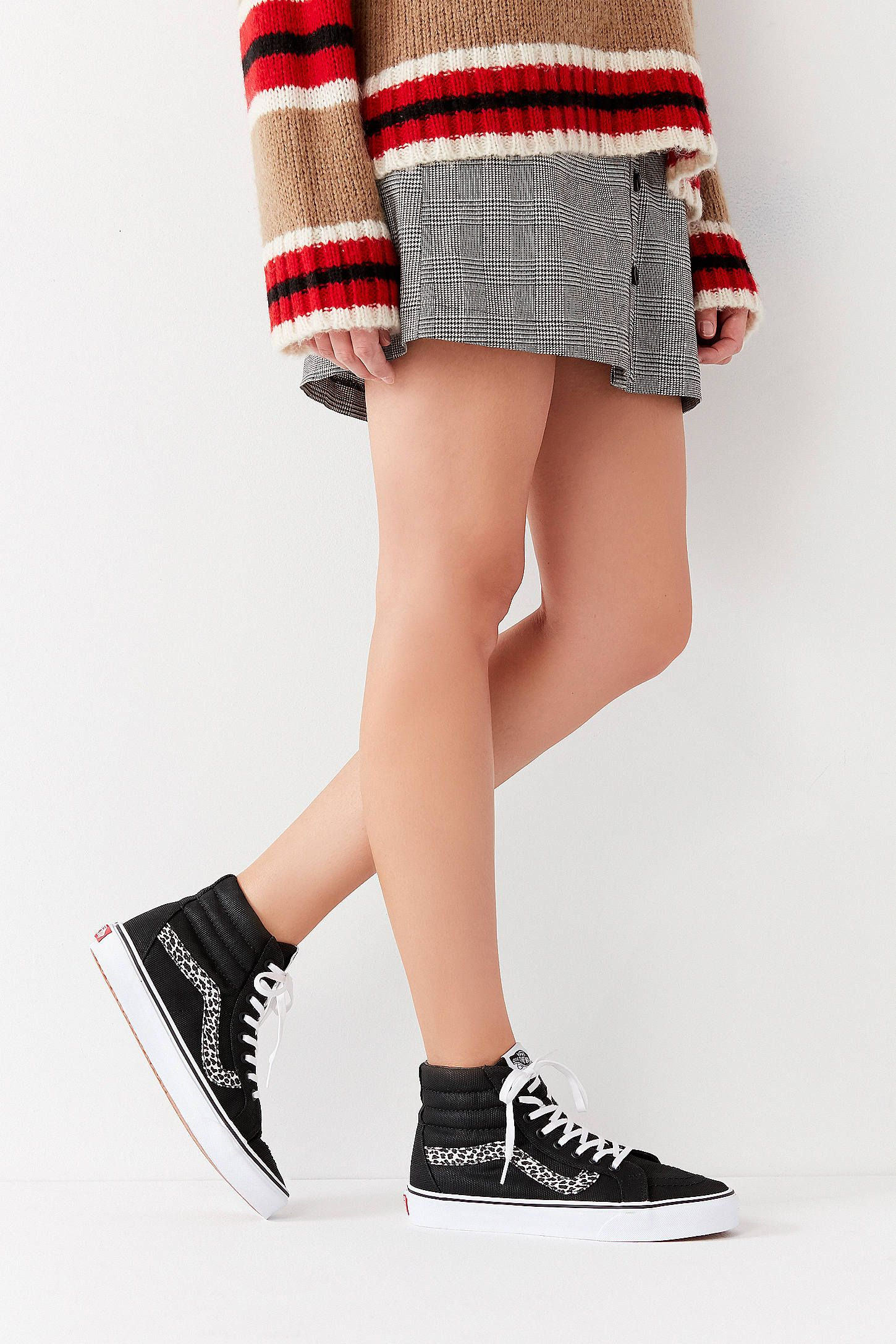 bec18b4c4861 Vans Mini Leopard Sk8-Hi Reissue Sneaker   style & self   Sk8 hi ...