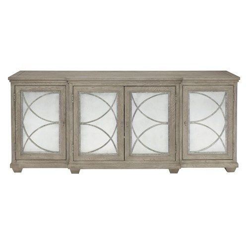 bernhardt marquesa entertainment console with antique glass doors rh pinterest com
