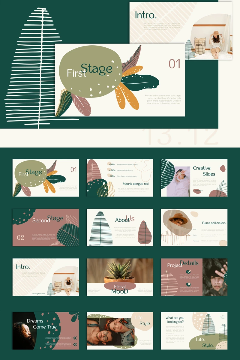 Flora 13.12 PowerPoint Template #92307