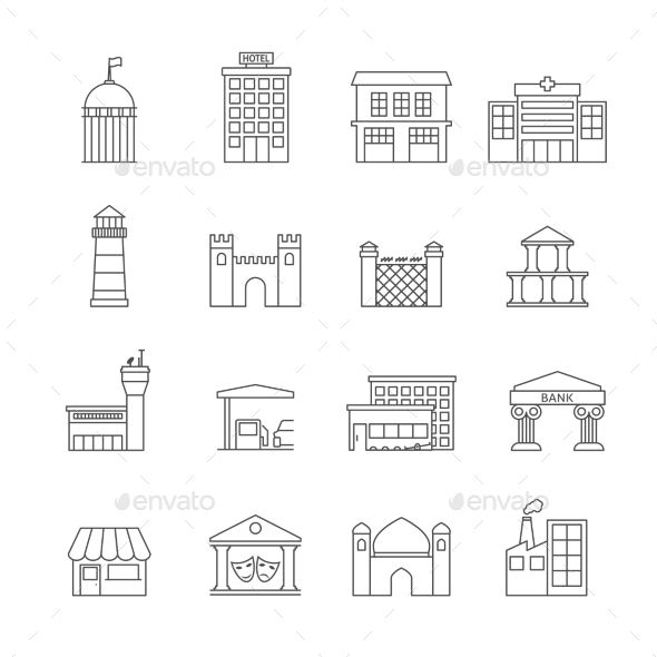 Government Buildings Icons Building Icon Icon Technology Icon