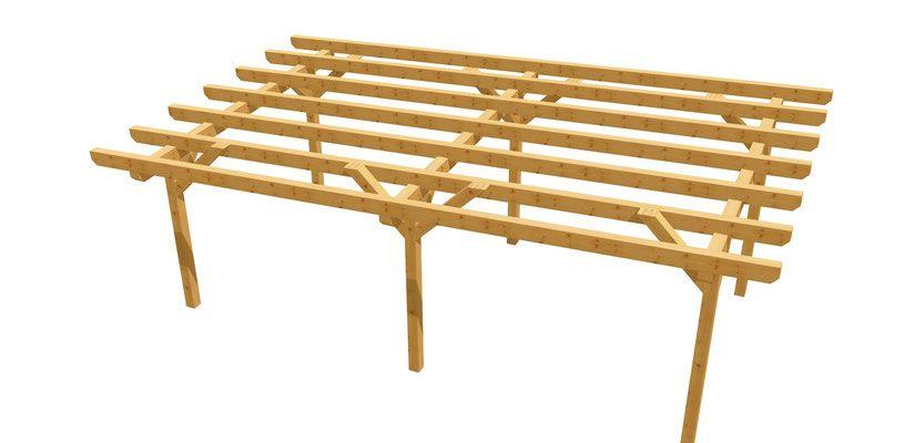 Doppel Carport Flachdach Bauplan 5m X 5m Carport Holz Bauplan Carport Selber Bauen