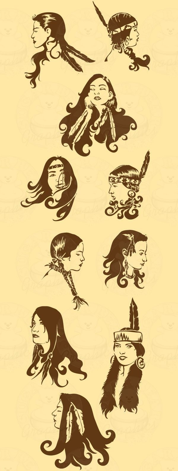 native american hairstyle   costumes   native american hair