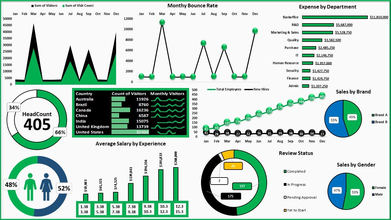 Excel Data Analysis And Excel Data Visualization Using Interactive
