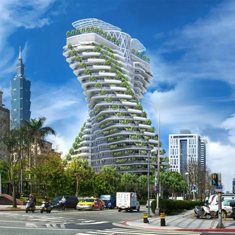 Madison Erects Giant Phallic Tower To >> A Plant Covered Twisting Tower Shaped Like A Dna Strand By Belgian