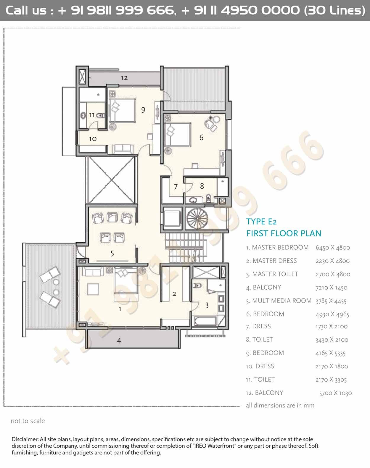 Type E2 First Floor Plan Architectural Floor Plans Apartment Floor Plans Modern House Plans