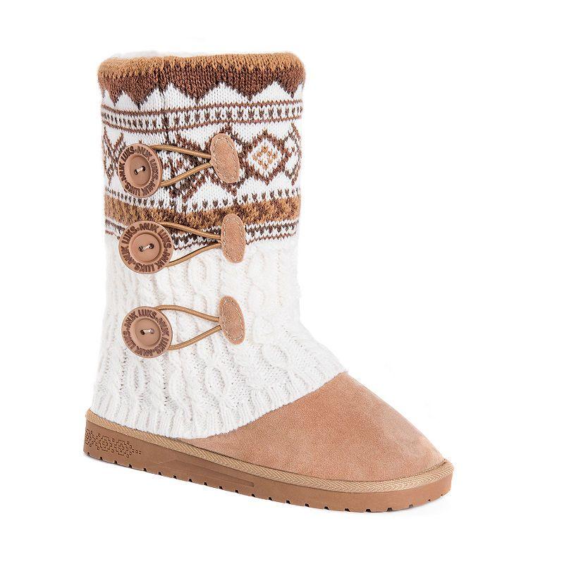 59c5a5b1de3 Muk Luks Womens Cheryl Booties Flat Heel Pull-on | Products in 2019 ...