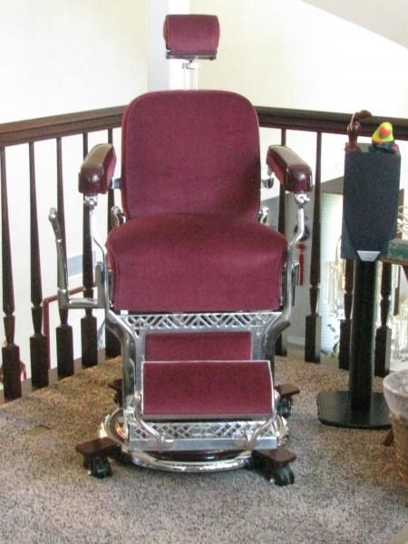 1930s Koken Barber Chair with a criminal past! - 1930s Koken Barber Chair With A Criminal Past! Antique Barber
