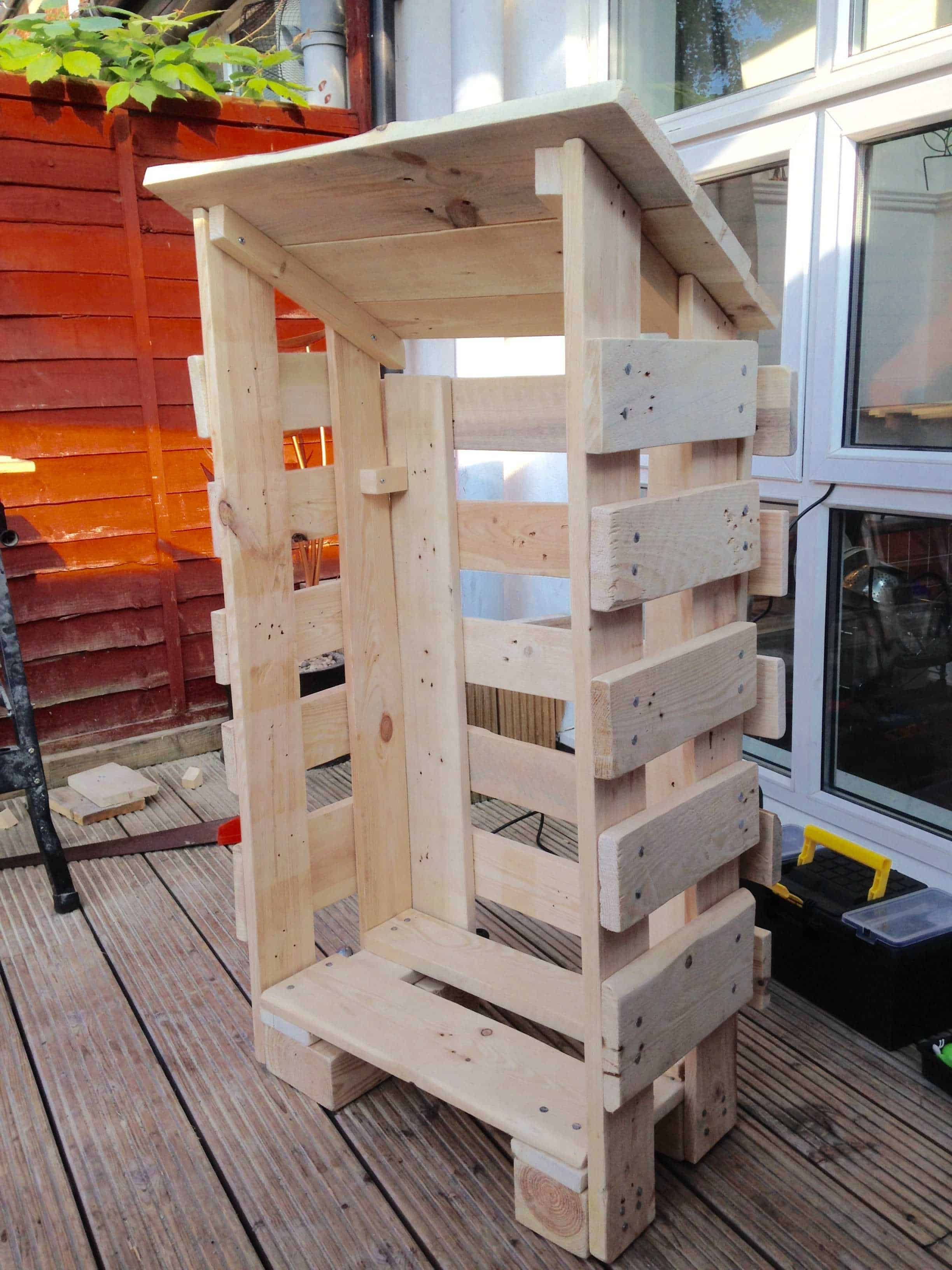 Small Log Store From Pallet Wood • 1001 Pallets | Log shed ...
