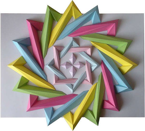 Moving Origami Mosaics Z Sculpture Paper Pinterest Geometric