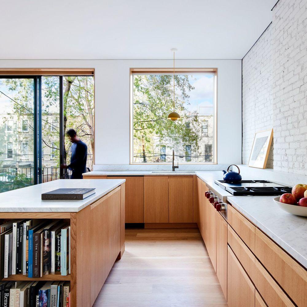 Cuisine Lumineuse Sans Fenetre cuisine devant fenêtre, baie vitrée : inspiration lumineuse