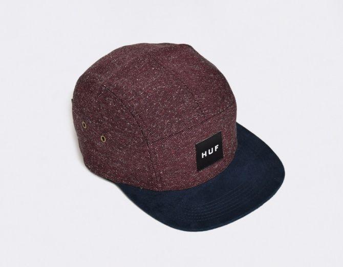 bc3d1240 Huf 5 Panel Tweed Volley Burgundy   Accessories   Hats for men, Hats ...