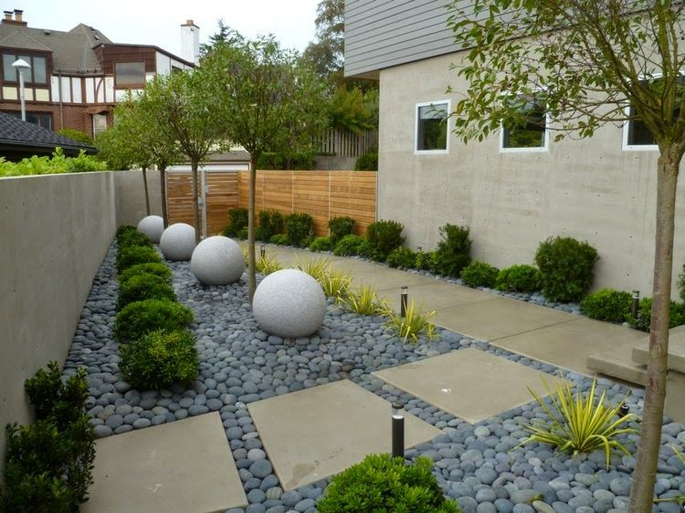 Discover 12 DIY garden decorating with combination of pebble and