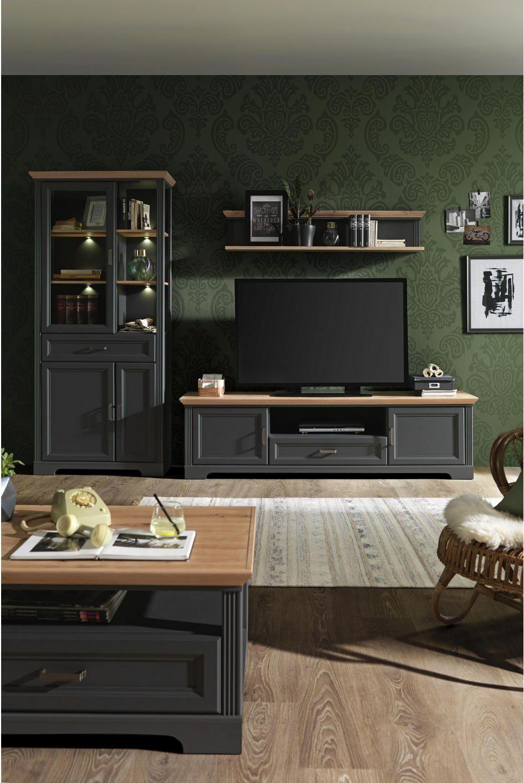 Tv Element 193 54 51 Cm Online Kaufen Xxxlutz Wohnen Wohnwand Landhausstil Wohnwand Schwarz