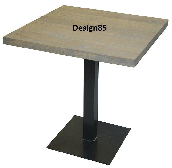 Moderne tafel voor 2 personen!  Stalen onderstel en afgewerkt  met een eiken tafelblad, leverbaar in diverse kleuren!  https://www.design85.nl/tafel-london.html