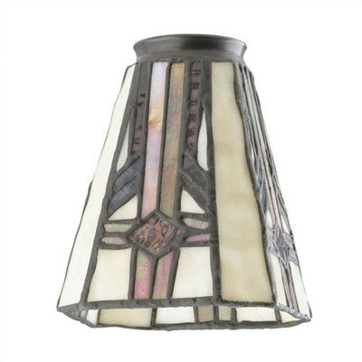 Westinghouse lighting 225 ceiling fan fitter square tiffany glass westinghouse lighting 225 ceiling fan fitter square tiffany glass shade wayfair 6238 mozeypictures Gallery