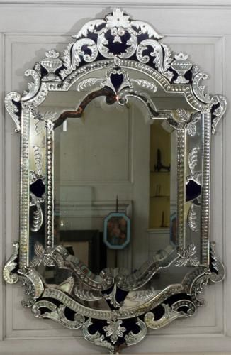 Venetian Glass Mirror C 1920 Price Estimate 500 800 Venetian Glass Mirror Venetian Mirror Bathroom Antique Mirror Frame
