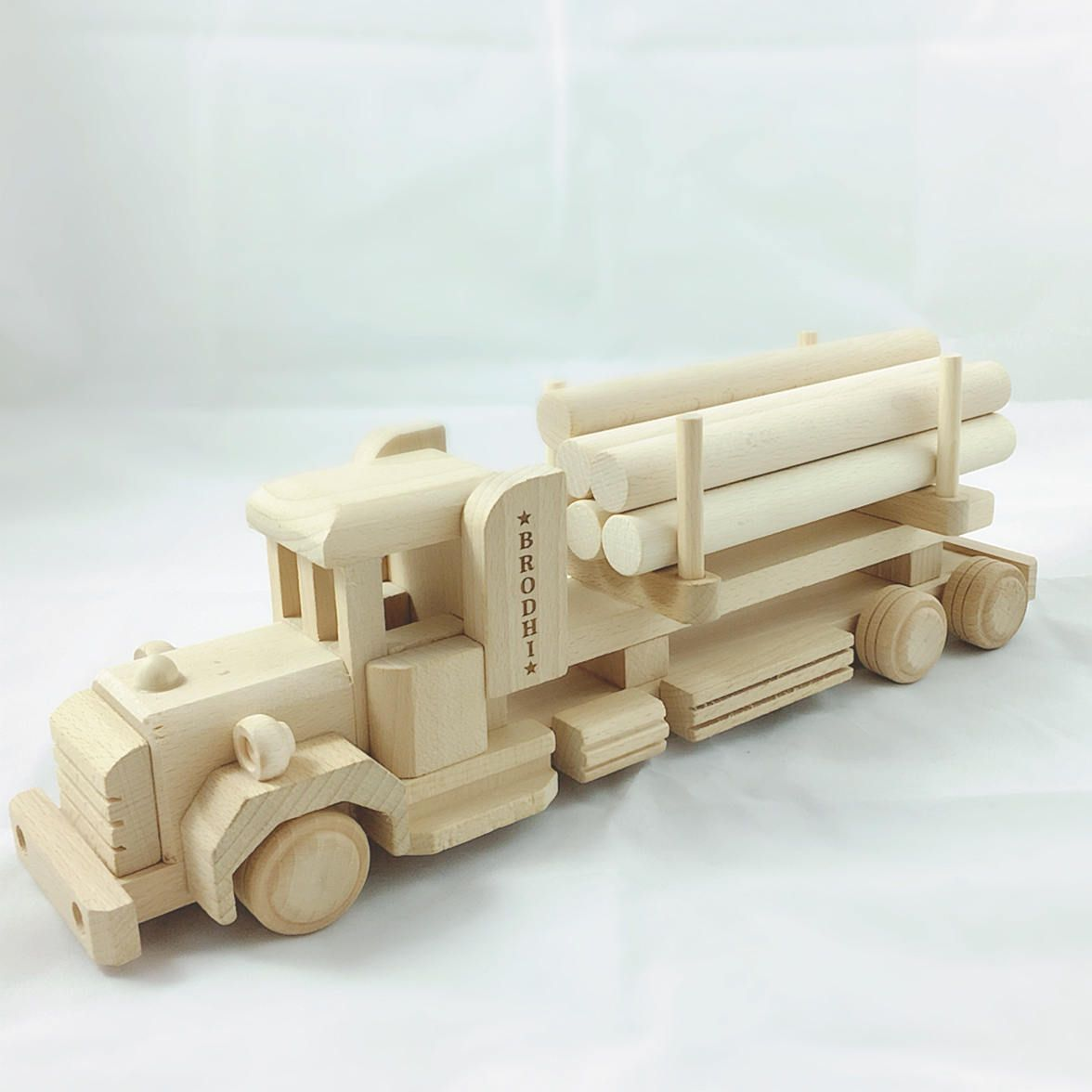 personalised wooden toy truck, eco friendly toy, traditional