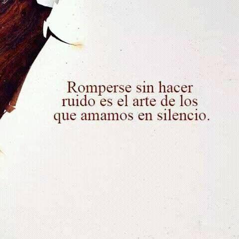 Amar en silencio*