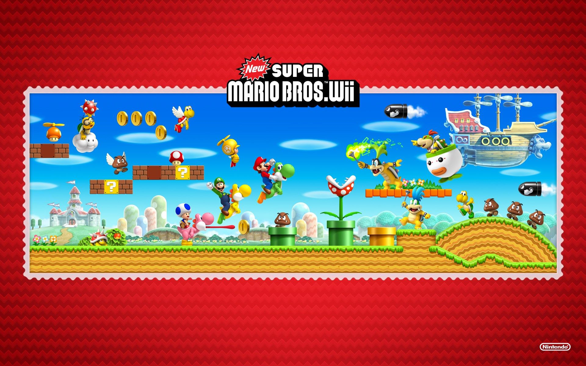 1920x1200 New Super Mario Bros Wii Game Wallpaper Super Mario