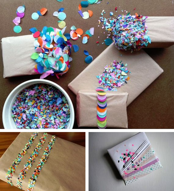 Wrap your gifts with confetti