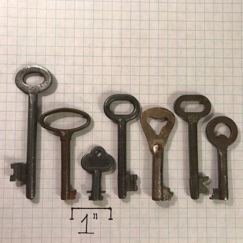 Vintage Skeleton Keys lot of 7 Antique Skeleton Keys From | Etsy