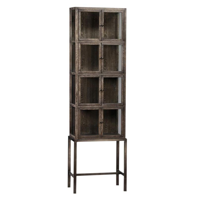 Tall Glass Storage Cabinet on Stand | Products | Pinterest | Storage ...