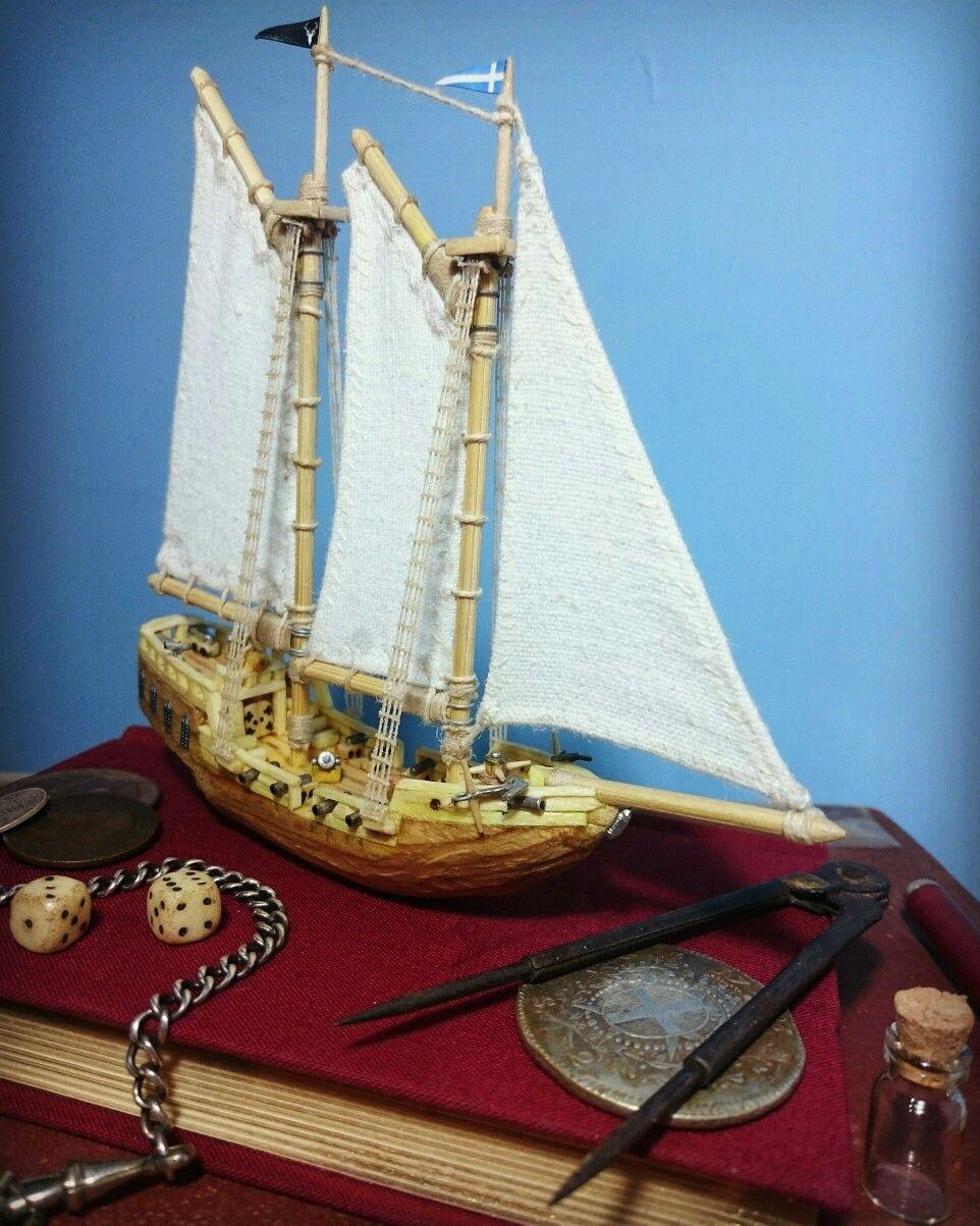 Model gaff schooner pirate ship - 'Iron Falcon' | Pirates, Ships