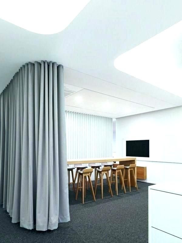 Soundproof Curtains In 2020 Room Divider Curtain Office